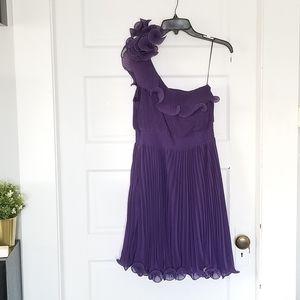 Purple one shoulder dress